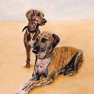 Two Lurchers by Croftsie