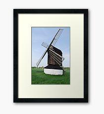 windmill in field Framed Print