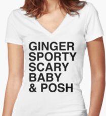 Spice Girls Women's Fitted V-Neck T-Shirt