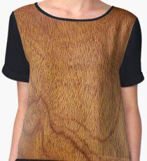 I Feel Woody, Oh So Woody!! (Wood Grain #1) - Man Cave Chiffon Top