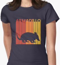 Vintage Retro Armadillo Women's Fitted T-Shirt