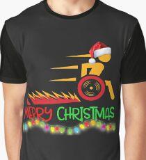 Funny Wheelchair Christmas Shirt Graphic T-Shirt