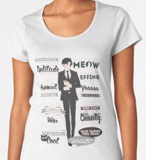 Cat Addict Quotes Women's Premium T-Shirt