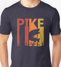 Vintage Retro Northern Pike Fish Unisex T-Shirt