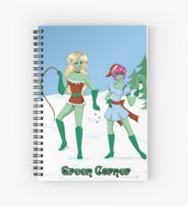 Naughty and Nice Spiral Notebook