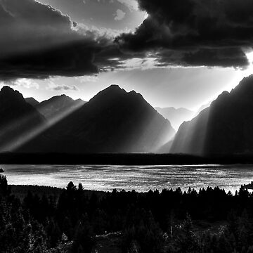 Grand Teton Light Beams by aodhain
