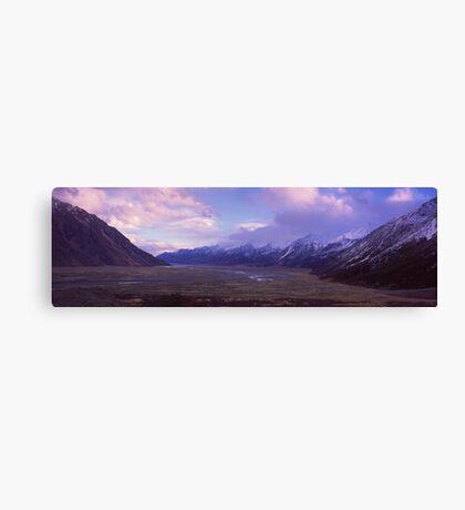 Tasman Valley, Mount Cook National Park Canvas Print
