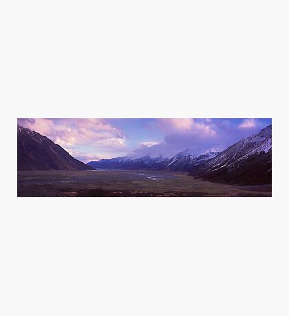 Tasman Valley, Mount Cook National Park Photographic Print