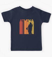 Vintage Retro Greek Goddess Athena Kids Tee