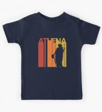 Vintage Retro Greek Goddess Athena Kids Tee