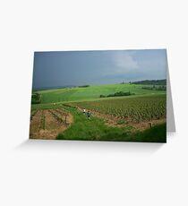 a vast France landscape Greeting Card
