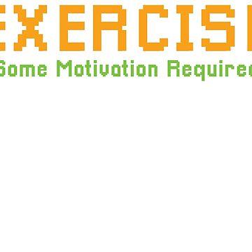 Dinosaur T-Rex Training Motivation Pixelart Gift by UltimateTWorld