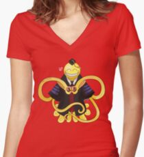 Korosensei ♡'s and Believes in You! Women's Fitted V-Neck T-Shirt