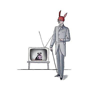 Mr. RED and Dog in TV by gencodemirer