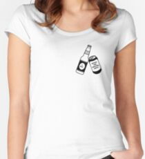 ONE BEER A DAY Women's Fitted Scoop T-Shirt