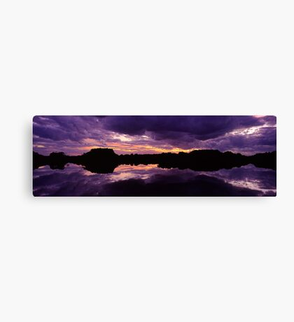 Sunset in the Catlins Forest Park Canvas Print