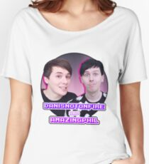Danisnotonfire and AmazingPhil Women's Relaxed Fit T-Shirt