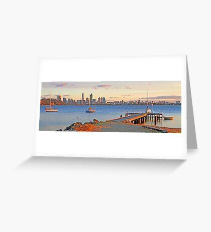 Pelican Point - Perth Western Australia   Greeting Card