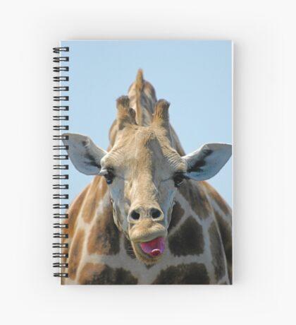 """""""I Don't Care"""" Giraffe Card Spiral Notebook"""