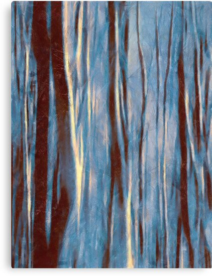 Dawn in the Winter Forest #impressionism #abstract #moods by Menega  Sabidussi