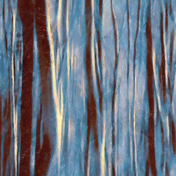 Dawn in the Winter Forest #impressionism #abstract #moods by MenegaSabidussi