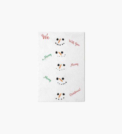 Snowmen in a Snowstorm! Art Board