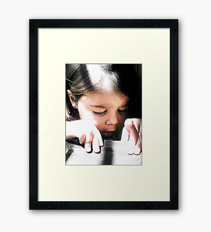 Diligently Working to Uncover Whats Within Framed Print