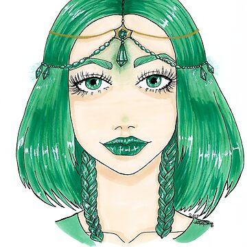 green crystal by Hardsara