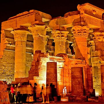 Egypt. Kom Ombo Temple at Night. by vadim19