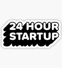 The Official #24hrstartup Sticker V2 Sticker