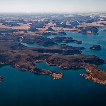Egypt. Flying over Lake Nasser. by vadim19