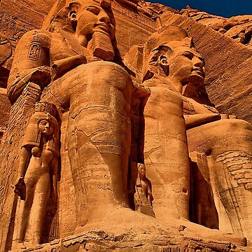 Egypt. Abu Simbel Temple. Statues of Ramesses II. by vadim19