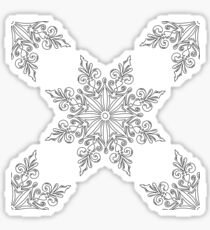 Holiday Snowflake Pattern #3 on Red Background Sticker