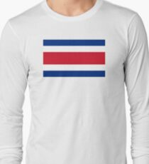 8bf7f7d28 Flag of Costa Rica Long Sleeve T-Shirt