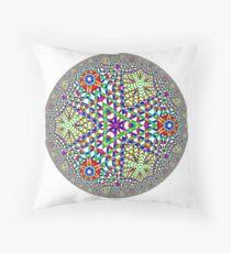 Noneuclidean Quasi-Ukrainian Mandala #124 Floor Pillow