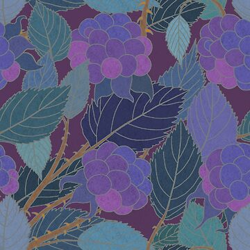 Art Nouveau Blackberries #1 by Mystalope