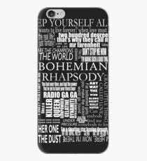 BOHEMIAN RHAPSODY LYRICS iPhone Case