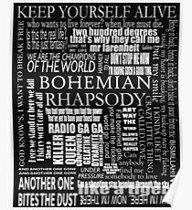 BOHEMIAN RHAPSODY LYRICS Poster