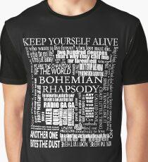 BOHEMIAN RHAPSODY LYRICS Graphic T-Shirt