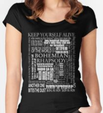 BOHEMIAN RHAPSODY LYRICS Women's Fitted Scoop T-Shirt