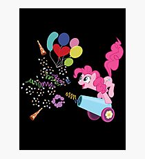 Pinkie Pie Cannon! Photographic Print