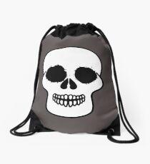 Black and White Skull Drawing Abstract Art Drawstring Bag