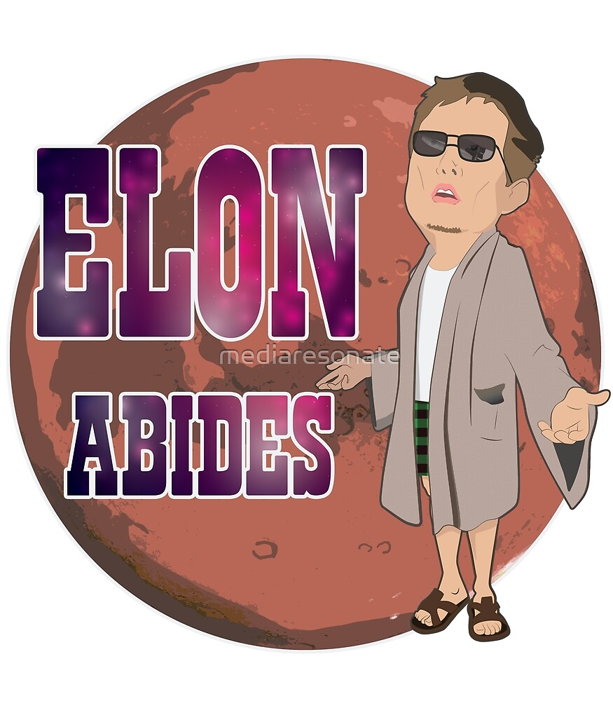 Elon Abides Mars Design by mediaresonate