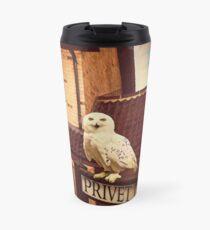 Hedwig on Privet Drive Sign Travel Mug