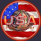 USA Flag Firefighter by artmuvz
