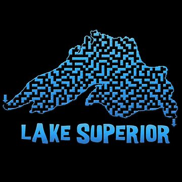 Lake Superior Outline Maze & Labyrinth by gorff