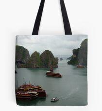 Halong Bay Junks Tote Bag
