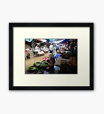 Markets, Hoi An Framed Print
