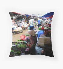 Markets, Hoi An Throw Pillow