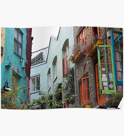 The colourful houses of Neil's Yard, London Poster